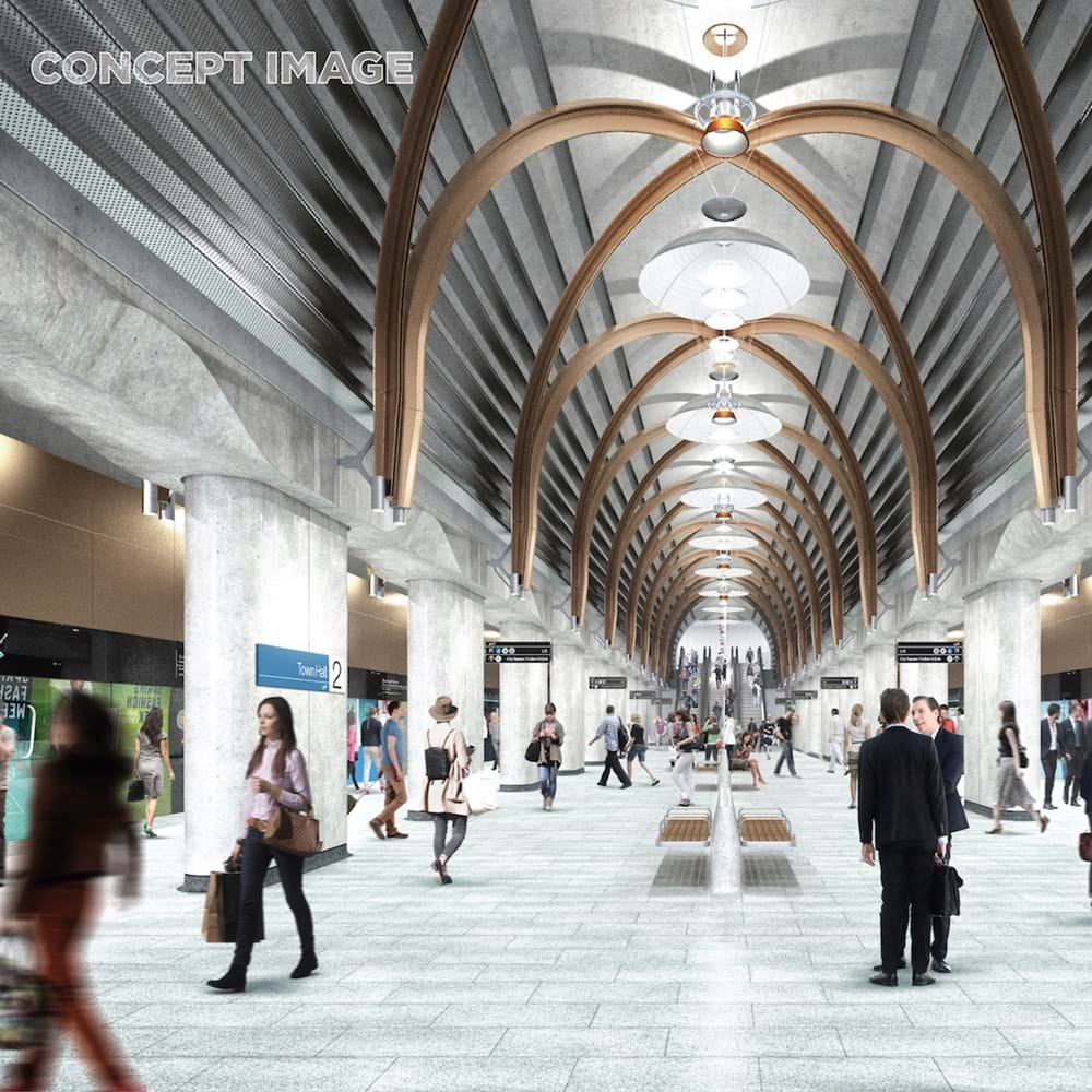 Concept design for The Metro Tunnel Project